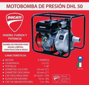 Motobomba de Alta Presion Ducati DHL 50